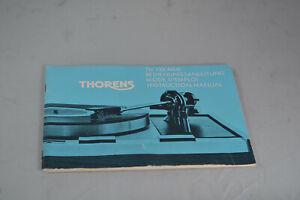 Thorens TD 125 MkII Instruction Manual English German French