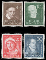 Germany #B320-B323 MNH CV$120.00 1951 CHARITY PORTRAIT SEMI-POSTAL SET