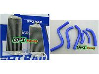 aluminum Radiator &BLU HOSE Suzuki RMZ250 RMZ 250 2013 13-2015 2016 2014 14 15*
