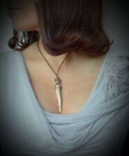 Antler tip tine Pendant Necklace Wicca Pagan Yule Gift Viking Wynn Happiness