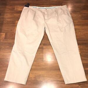 NWT POLO Ralph Lauren Pants Mens BIG 56 32 Tan CLASSIC PLEATED FIT Khaki NEW