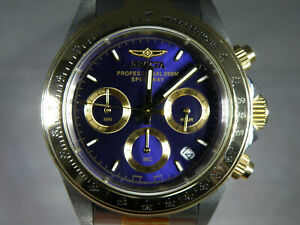 MENS INVICTA CHRONOGRAPH WATCH - VERY GOOD COND. - FULL SET - PLEASE READ