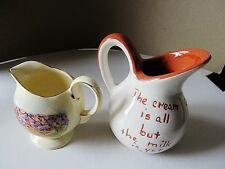 Two (2) Collectible Cream Pitchers. Jonroth Grand Canyon, Ruth Price Motto
