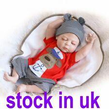 "18"" Vinyl Silicone Reborn Doll Lifelike Newborn Baby Doll Kids Gift Toys Boy"