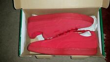 Puma Suede Classic Casual Emboss Mens Red Suede Lace Up Sneakers Shoes Size 8