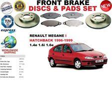 FOR RENAULT MEGANE I BA0/1 HATCHBACK 96-03 FRONT BRAKE DISCS SET + BRAKE PAD KIT