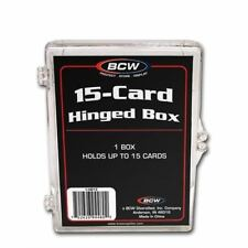Case (100) Bcw Hinged Trading Card Boxes - 15 Count (CT) Box