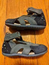 Euc Perlina Orthopedic Blue Leather Baby Toddler Sandals, Size 20 (5)