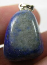 #7 40.00ct Afghanistan Natural Lapis Lazuli Tumbled Crystal Pendant 8.00g 20mm