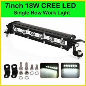 7'' 18W Spot LED Work Light Bar Lamp Driving Fog Offroad SUV 4WD Car Boat Truck