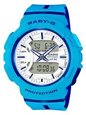Casio Baby-G * BGA240L-2A2 Runner Anadigi Blue and Jelly Resin Watch for Women