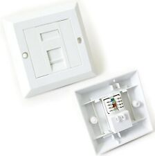 Cat5e RJ45 Network Faceplate Face Plate LAN Patch Single Socket Module Complete