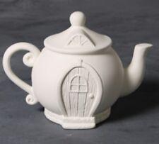Teapot Fairy House Unpainted  Ceramic Bisque Ready To Paint