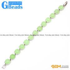 "Fashion Jewelry Jade Tennis Link Tibetan Silver Bracelet 7"" Free Shipping"