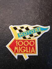 MILLE MIGLIA XL Bügel o. Aufnäher Motore 1000 Miglia Rennsport Rennfahrer Retro