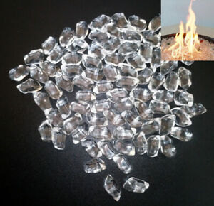 Clear Smooth Fire Glass 3kg(6.6lb) - Pits Gas Fires Burners Firebrand Direct