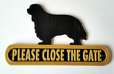 King Charles Spaniel Please Close The Gate Dog Plaque - House Garden Sign - B/G