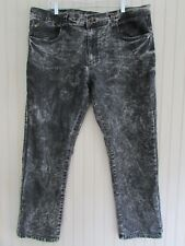 Marc Ecko Cut & Sew Jeans Black Acid Wash Mens Size 38