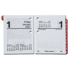 2021 At-A-Glance E919-50 Compact Daily Calendar Refill With Tabs, 2-7/8 x 3-3/4""