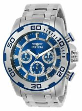 Invicta Mens Pro Diver Quartz Watch W/ Stainless-Steel Strap, Silver, 26 (Model: