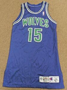 1995/96 MINNESOTA TIMBERWOLVES Game Worn Used Jersey - Darrick MARTIN - UCLA
