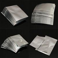 100Pcs Silver Aluminum Foil Mylar Bags Vacuum Sealer Food Storage Pouches