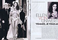COUPURE DE PRESSE CLIPPING 2010 ELLEN VON UNWERTH (8 pages)