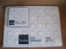 Denby Reflex Blue Table Place Mats & Coasters 4 of Each Unused Free UK Post
