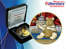10 Yuan Silber China Panda 2017 color The Famous Capitals of the World Series