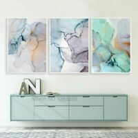Posters Canvas Painting Wall Pictures Abstract Green Stone Pattern Nordic Prints