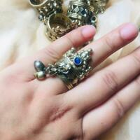 Afghan Jewelry Statement Retro Tribal Handmade  Adjustable Ring fashion