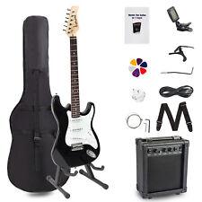 Electric Guitar Amplifier Chromatic Tuner Accessories Case Strap Rockjam Bundle