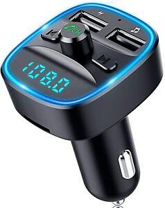 Transmetteur FM sans fil Bluetooth 5.0 voiture Chargeur USB MP3 allume cigare