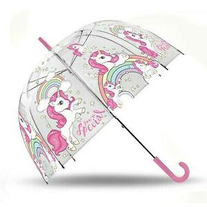 "Unicorn Dome Umbrella Parachute 19"" Sunshade Wipeable Fabric Unisex Kids Gift"