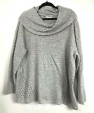 Maurices Womens Size XXl Cowl Neck Sweater Long Sleeve Gray 2XL Comfy