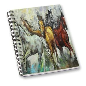 Horse Printed Notebook Multicolor A5 Sheet Smooth Paper Personal Stationary