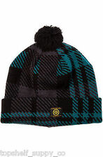 10 Deep The McCloud Knit Beanie in Navy Plaid Pom (Diamond Topshelf Supply Co)