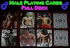 Male Playing Cards hot guy playing cards dude hunk jock twink gay male gift abs
