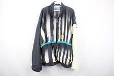 Vintage 80s IXSPA Mens XL Full Zip Striped Juventus Soccer Windbreaker Jacket