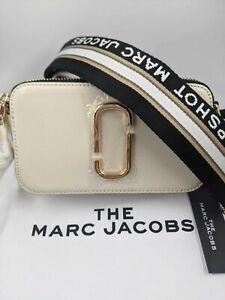 BNWT AUTH Marc Jacobs Snapshot bag cream Camera Crossbody Dustbag Tags