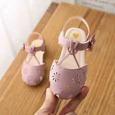 Toddler Infant Kids Baby Girls Cute Pearl Hollow Flower Princess Sandals Shoes