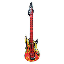 80s Party Decoration - Inflatable Flame Rock Guitar - 106cm