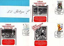 Fútbol-WM 1982 España - 52 justificantes - (24246)