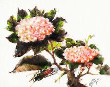 Original Still Life Oil Painting CHINESE STYLE FLOWER Hydrangea ARTIST SIGNED