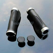 1pair Silver Cycling MTB Bike Bicycle Comfortable Handlebar Rubber Grips Lock On