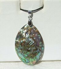 Abalone-Paua Shell Pendant comes with Adjustable Cord Great Look, Free Shipping!