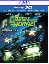THE GREEN HORNET BLU RAY 3D, BLU RAY + DVD NEW! SETH ROGEN, CAMERON DIAZ, ACTION