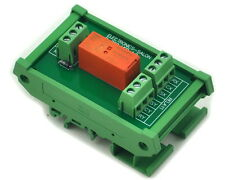 DIN Rail Mount Passive Bistable/Latching DPDT 8A Power Relay Module,12V Version.
