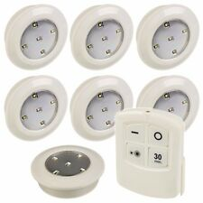 12 Remote Control Wireless LED Push Lights Battery Ceiling Under Kitchen Cabinet