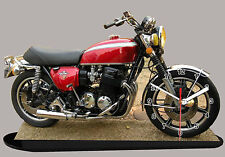 MODEL CARS, MOTO, BIKE, HONDA 750 FOUR-02 with Clock,11,8x 7,8 inches,